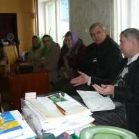 Робочі зустрічі громади села з керівництвом району