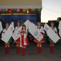 DSC_0166 З хлібом , сіллю і вишитими рушниками вітають односельців учасники художньої самодіяльності села Коновалівка