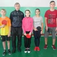 Проведено змагання юнаків та дівчат  з настільного тенісу в залік міської Спартакіади школярів
