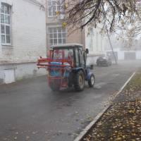 Санітарна обробка території Гадяцької районної лікарні
