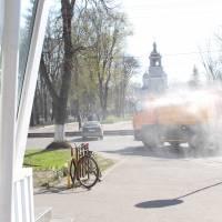 Дезінфекція повороту вулиці Шевченка та площі Соборної