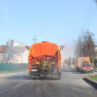 Дезінфекція вулиці Полтавської