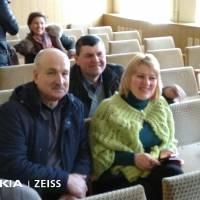 Учасники засідання Анатолій Черкащенко, Віктор Фесенко і Вікторія Ємець