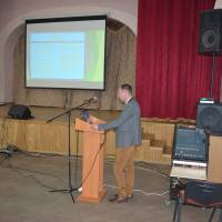Набутий  досвід роботи презентує Григорій Нестарчук