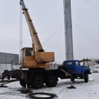 ремонт водонапірної вежі у Козельщині