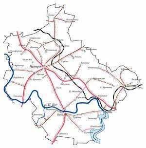 Мапа Немірівського району