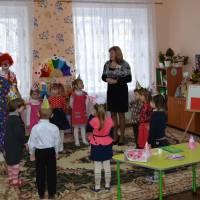 День народження клоуна святкує  з дітьми вихователь Сараванська І.П.