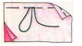 (рис. 3)Сметочный шов из одинаковых стежков