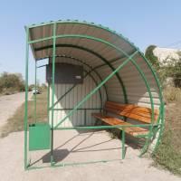 Нові автобусні зупинки у селах Недогарки та Максимівка (червень, 2017 р.)