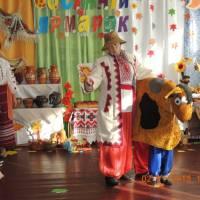 На ярмарок поспішає дядько Микола із своїм бичком
