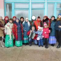 Учасники художньої самодіяльності Максимівського сільського будинку культури