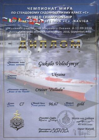 Оржиця, судномодельний спорт, чемпіонат світу, Гукало