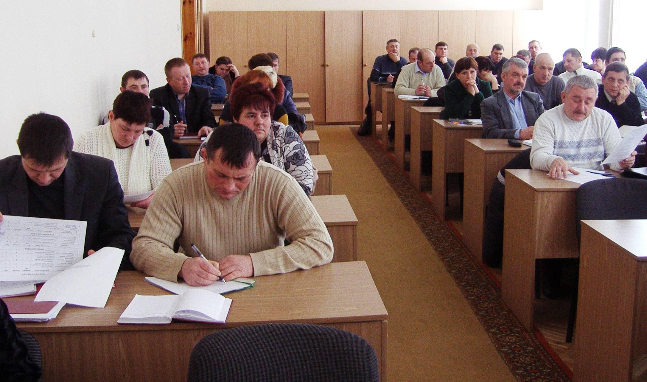 Оржиця, районна рада, сільські голови, навчання