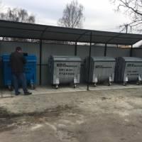 Майданчик для роздільного збору сміття по вулиці Промисловій