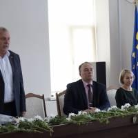 Слова вітань від голови районної ради Володимира Сьоміна