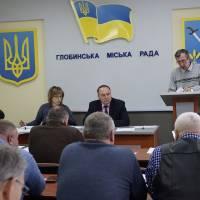 Виступ начальника відділу комунального майна і закупівель Анатолія Головаша