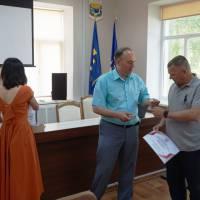 Нагородження Олега Клімова - автора проекту: Бібліотека - культурний центр села