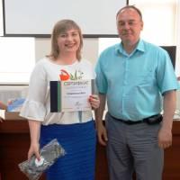 Коврижко Віта - автор проекту Навчаємося жити в Глобинській громаді без сміття