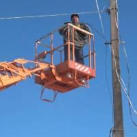 Під час  ремонтних робіт по відновленню вуличного освітлення