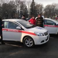 Під час передачі двох нових автомобілів «Центру первинної медико-санітарної допомоги у Глобинському районі»