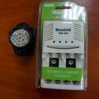 Зарядний пристрій для акумуляторів та світлодіодний ліхтар