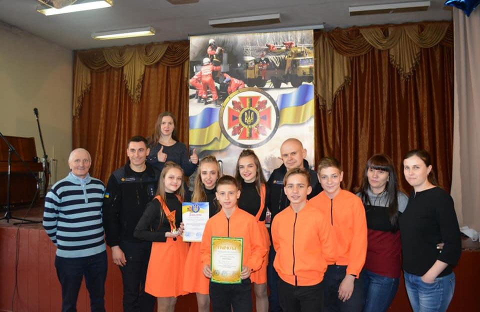 Переможці районного етапу команда «Юний рятівник» («Young rescuer»)