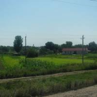 Солоне (Вільнянський район). Вид з боку залізниці.