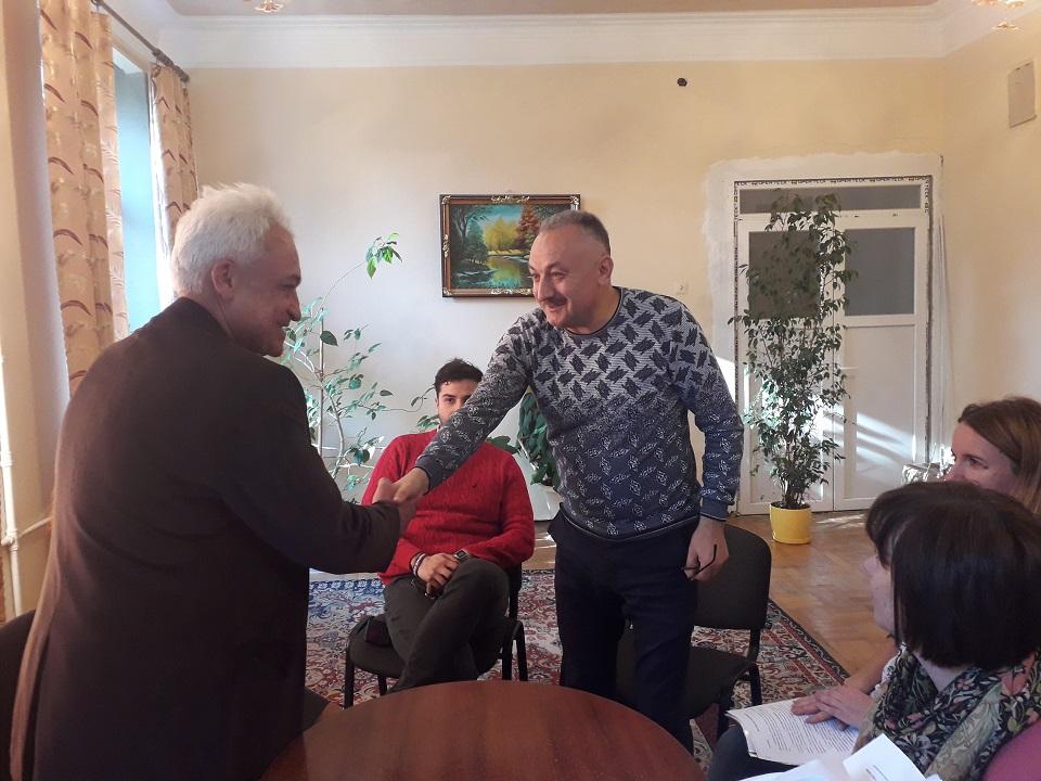 Zustrich miskoho holovy Bohdana Yuzviaka z delehatsiieiu Sambirskoho tekhnikumu ekonomiky ta informatyky