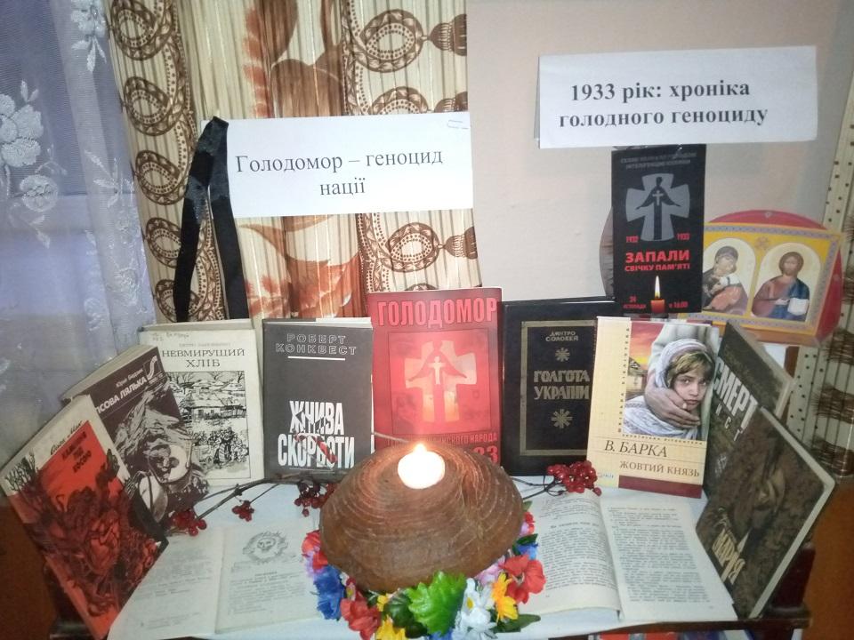 Novokalynivska miska rada biblioteka s. Hordynia Hodynu pamiati Svichka plakala v skorboti 23.11.2019 roku