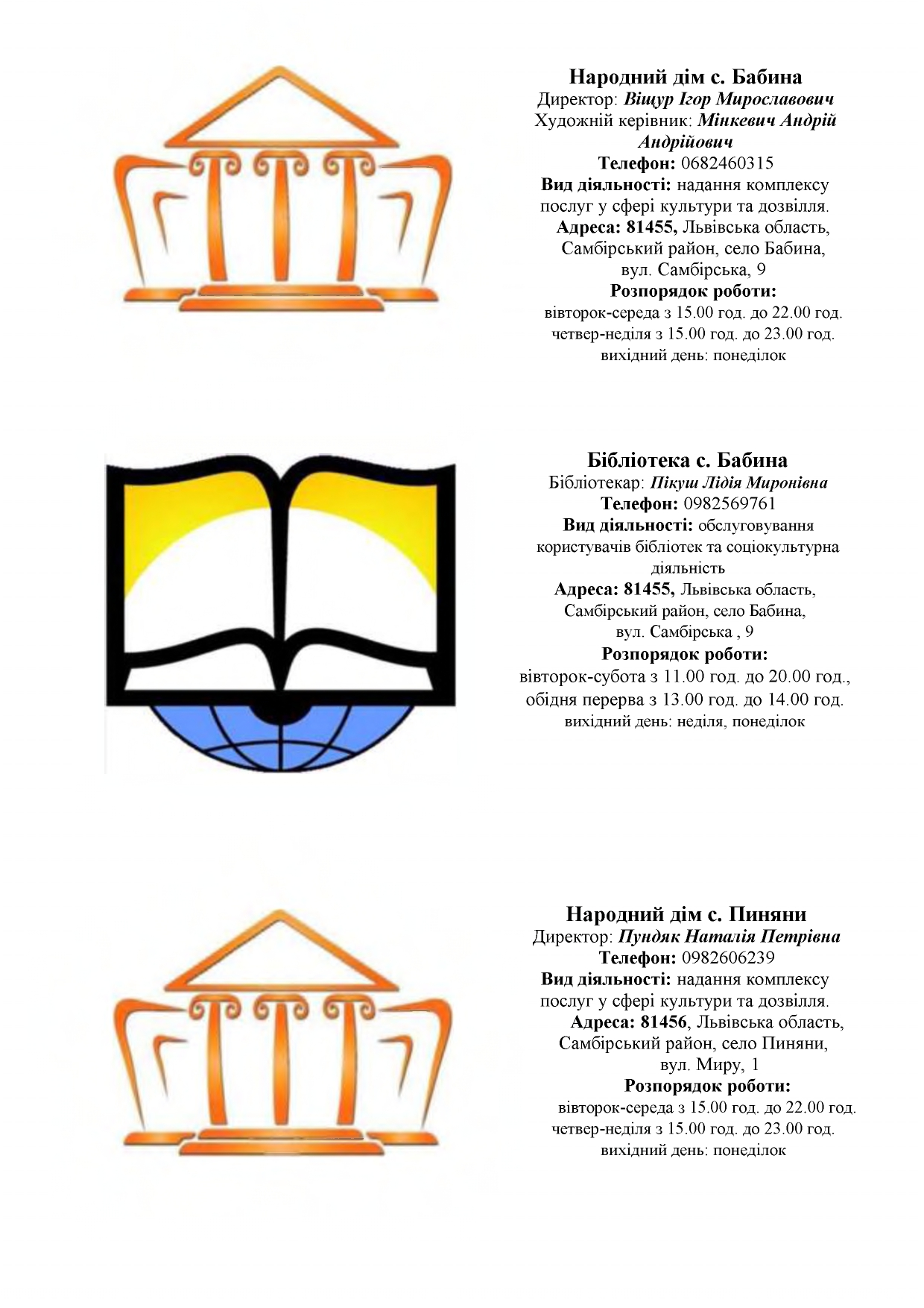 zaklady kultury Novokalynivskoi TH 6