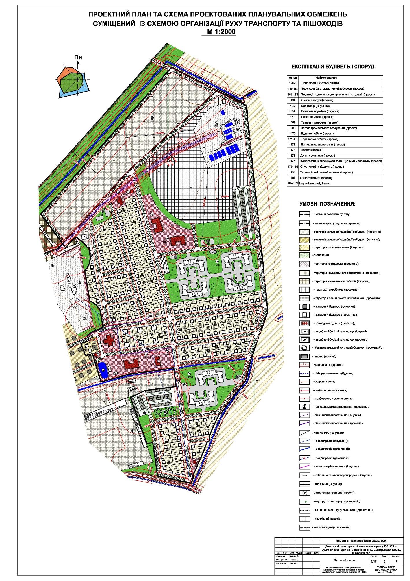 detalnyi plan kvartu zabudovy m. Novyi Kalyniv