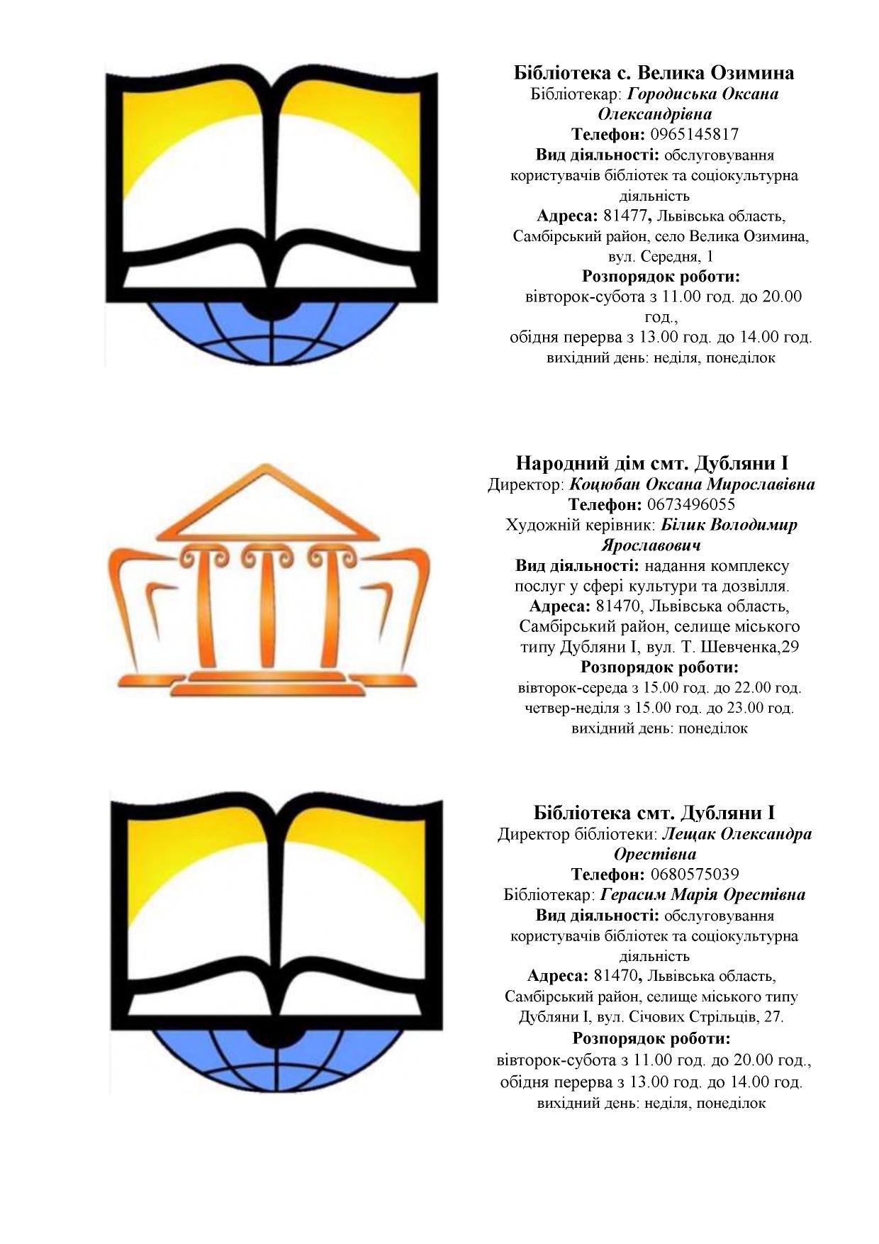 zaklady kultury Novokalynivskoi TH 11