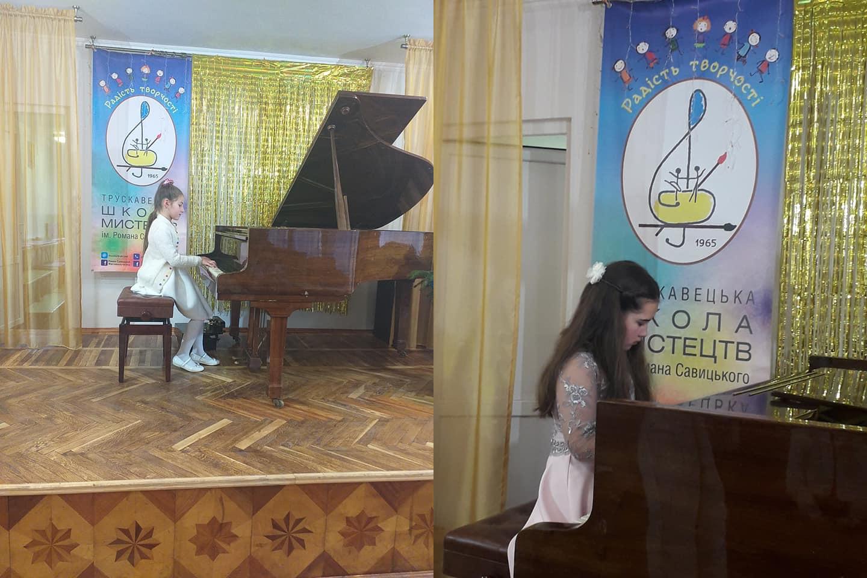 Novokalynivska dytiacha muzychna shkola X festyval yunykh pianistiv im. Romana Savytskoho v m. Truskavtsi