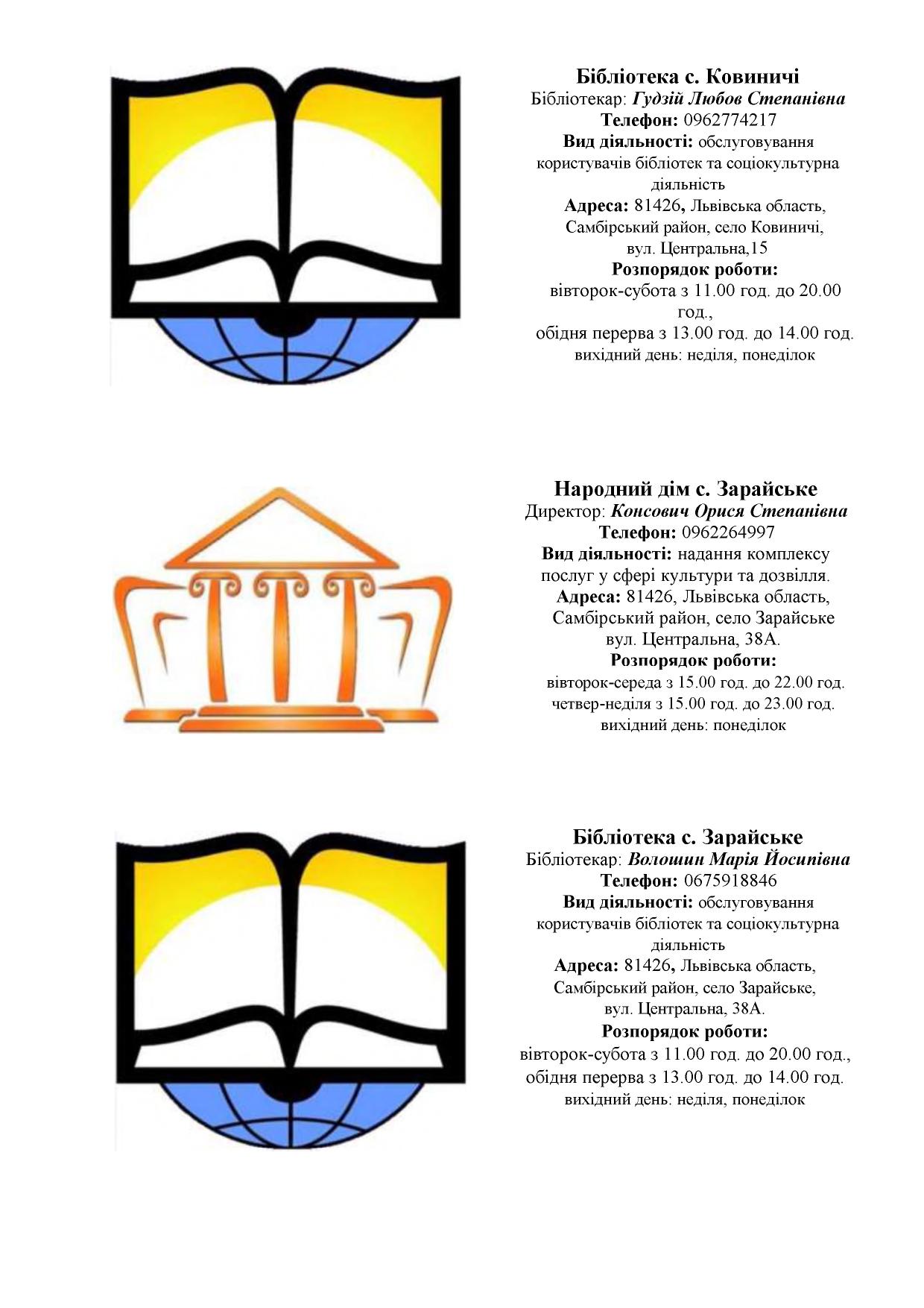 zaklady kultury Novokalynivskoi TH 9