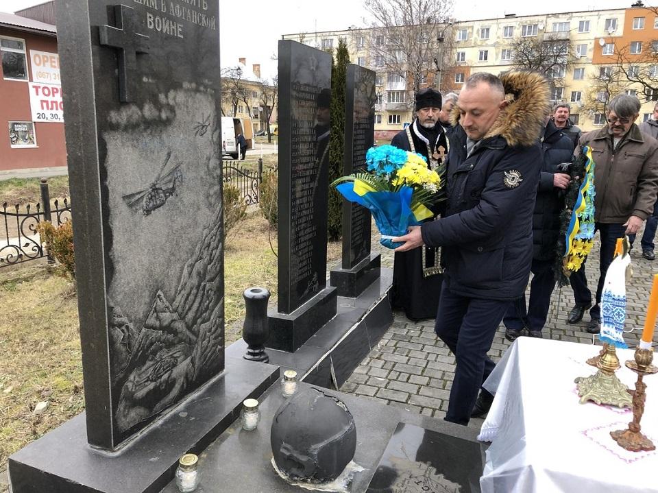 Bohdan Yuzviak 14.02.2020 roku m. Novyi Kalyniv. Hodyna pamiati Zghadai Afhanistan syniv polehlykh Ukrainy