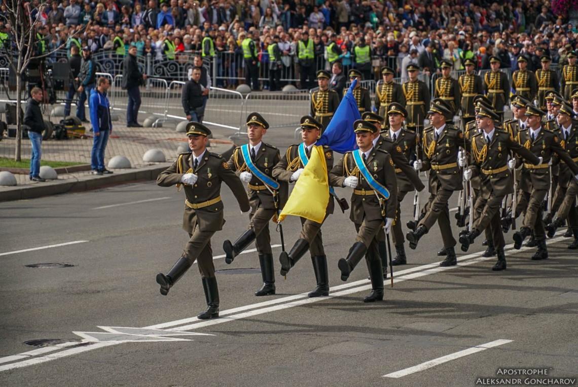 24 serpnia 2021 roku nahody 30-yi richnytsi Nezalezhnosti Ukrainy, vidbudetsia parad viiskovykh kolon rezervistiv