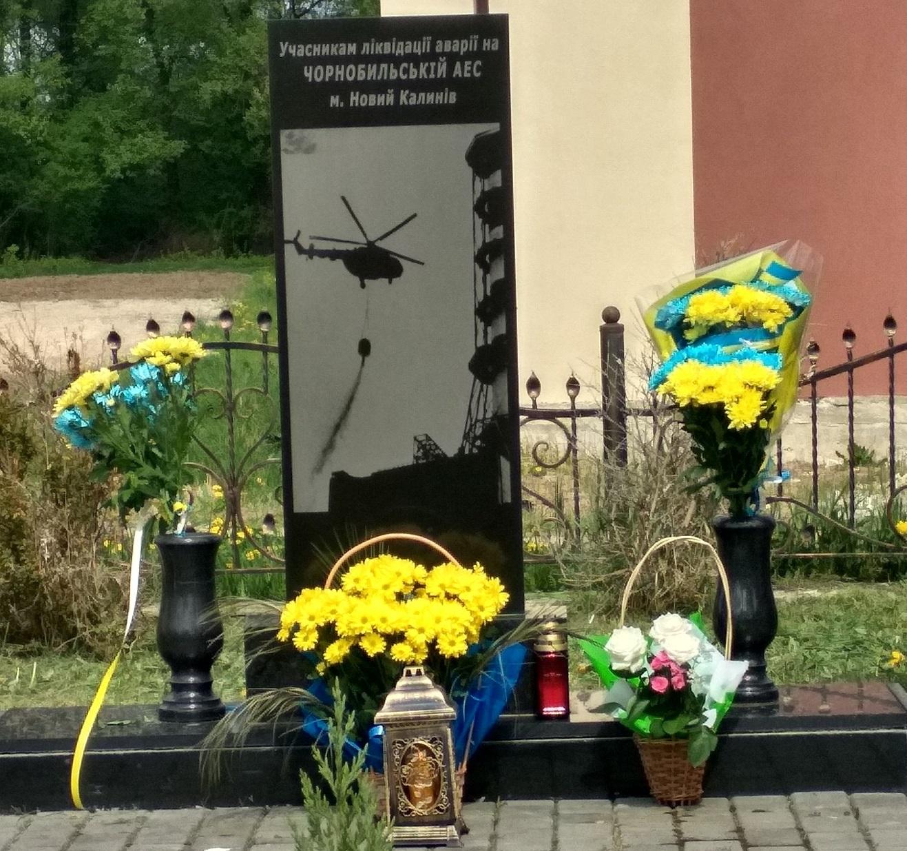 Novyi Kalyniv pamiatnyk chornobylskii trahedii 26 kvitnia 2020 roku
