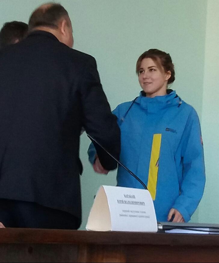 Нагородження грамотою РДА Цвігун Аліну Андріївну