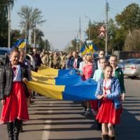 Марш Миру  з нагоди  Дня захисника Вітчизни,  Дня українського козацтва та Дня міста(фото)