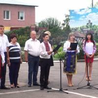 Урочисте підняття Державного Прапору України (площа біля селищної ради)  1