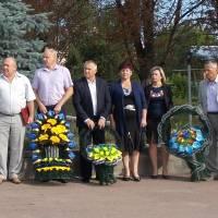 У Радомишлі відбувся урочистий мітинг з нагоди Дня державного прапора України