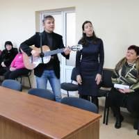 Привітання воїнів вчителями музичної школи