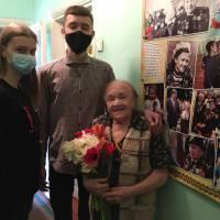 У День пам'яті та примирення учні закладу відвідали легендарну розвідницю та учасницю Другої світової війни Ольгу Іванівну Твердохлєбову.