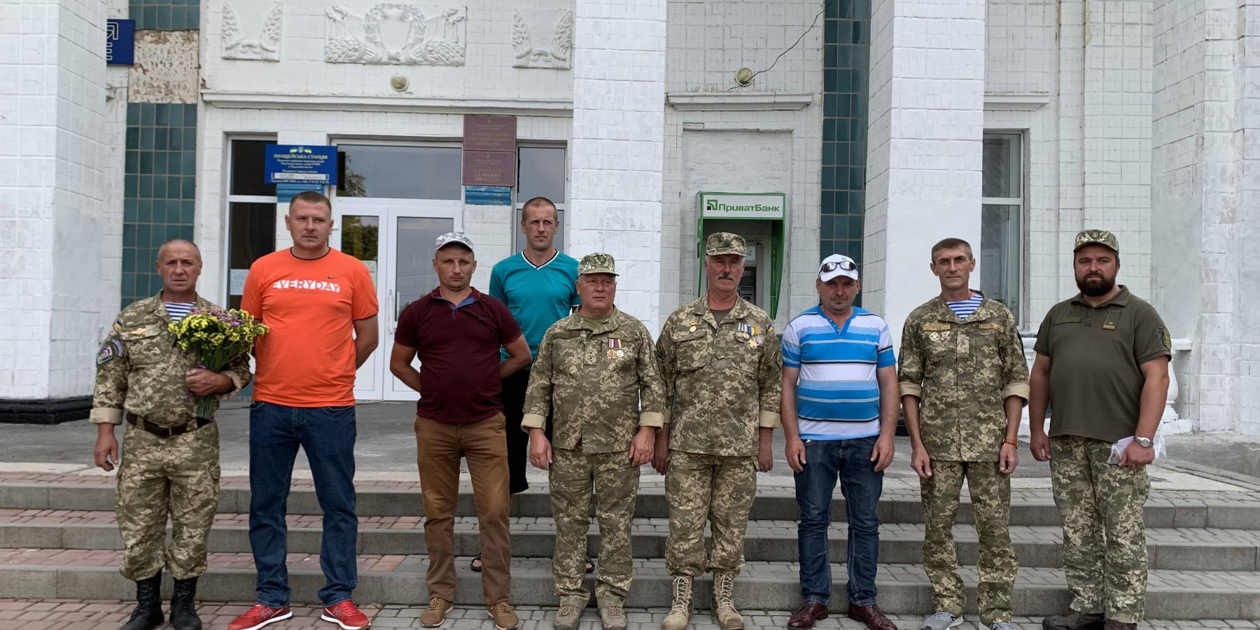 Вручення нагрудних знаків «Учасник АТО» жителям громади, які брали участь в антитерористичній операції на сході України