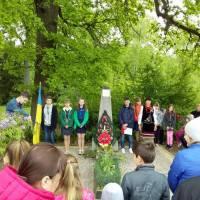 Село  Собківка.  Мітинг з нагоди 74-річниці Перемоги над нацизмом у Другій світовій війні.