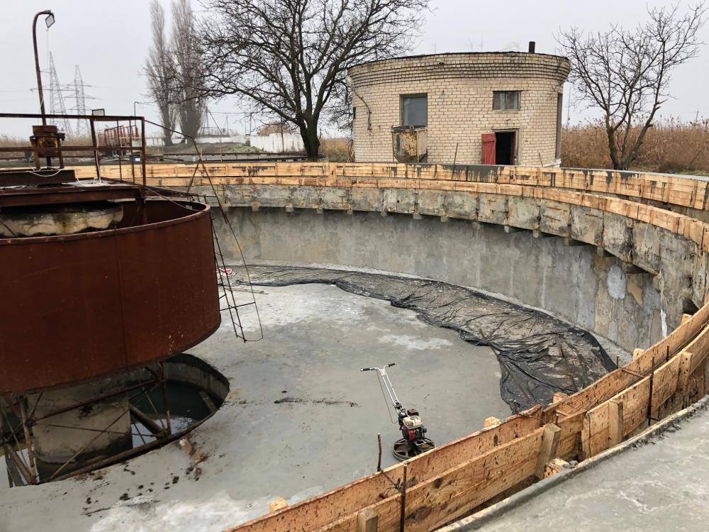 На очистных курорта Херсонщины заканчивают герметизировать отстойники
