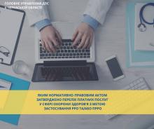 Перелік послуг у сфері охорони здоров ( для РРО)