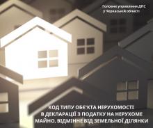 Код типу об'єкта нерухомості в декларації