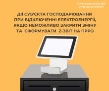 Викл. електр. при форм Z звіту (РРО)