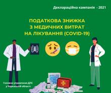 Податкова знижки витрати на медичну допомогу